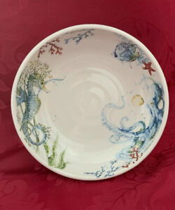 NEW FLAWLESS Exquisite PIER 1 IMPORTS Ceramic SEA LIFE Nautical BOWL DISH