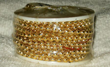 3MMx12 YRD SPOOL FAUX PLASTIC GOLD COLORED PEARL STRING BEADS JEWELRY CRAFTS NEW