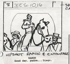 Zorro 1981 Production Storyboard hand drawing animation art Filmation Ep 9 p2 a