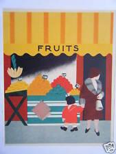 COMPOSITION COULEUR 20ème ETALAGE DE FRUITS