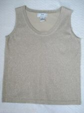 Gold Top Metallic Sleeveless LISA INTERNATIONAL Cotton Blend Women's size M/L