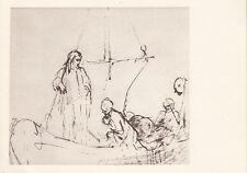 Kunst auf Postkarte Skizze von Rembrandt / Sowjetischer Verlag