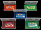 Game CARDS 5PCS Sapphire Ruby Emerald FireRed LeafGreen For GBM/GBA/SP/NDS