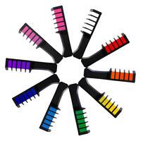 10pcs Pettine di Gesso per Capelli Monouso Temporaneo Lavabile Multicolore