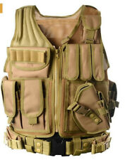 Tactical Molle Military Vest Airsoft Plate Carrier Adjustable Sentry Combat Gear