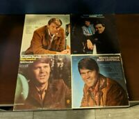Lot of 4 Glen Campbell Vinyl LPs Gentle On My Mind, Wichita Lineman, & More