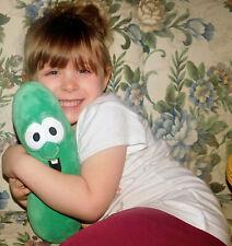 "PLUSH Veggie Tales Small Stuffed Animal Larry the Cucumber 11"" GUND Soft 320094"