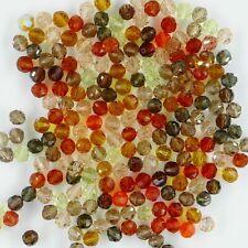 cube en forme transparent-rouge 12 perles de verre 10 MM