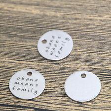 10pcs ohana means family charm silver tone lilo and stitch message pendant 20mm