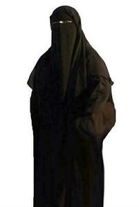 Adults Black Traditional Burqa Muslim Chadri Burka Hijab Arab Robes Halloween