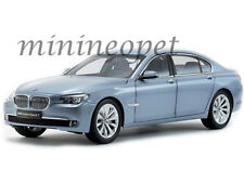 KYOSHO 08782BW BMW 7 SERIES ACTIVE HYBRID 1/18 DIECAST MODEL CAR LIGHT BLUE