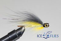 ICE FLIES. Tube fly. Sunray fish skull head Yellow. Pick a size. (3-pack)