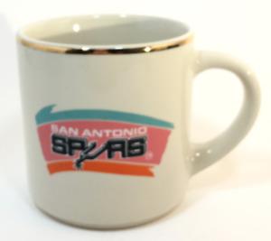 San Antonio Spurs White NBA Basketball Championship Print Coffee Mug