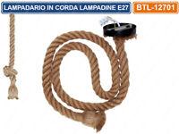 LAMPADARIO IN CORDA CON PORTALAMPADA PER LAMPADINE ATTACCO E27 1 METRO