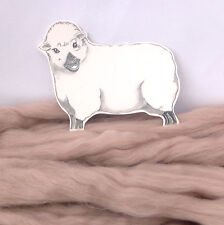 MINK CORRIEDALE dyed wool tops / roving / needle felting wool / fibre 50g