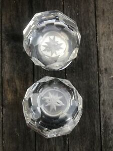 Pair Of 60mm Large Crystal Diamond Door Mortice Knobs Handle Home Deco Pre-Owned