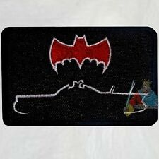 Batman Batmobile Silhouette 1966 Embroidered Patch Adam West TV Serie Robin