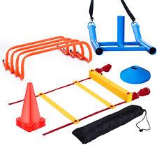 Football Soccer Speed Agility Training Aids Kit Set Sports Fitness Equipment