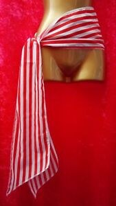 2M Long Red & White Stripe Pirate Waist Sash Ladies Mens Fancy Dress Book Day