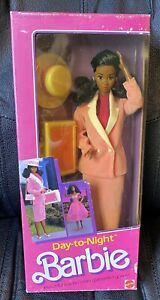 1984 DAY TO NIGHT BARBIE AA African American/Black #7945 NRFB