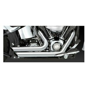 Vance & Hines Shortshots Staggered Exhaust - Harley 86-11 Softail / Chrome