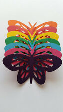 Fun Card Stock Colorful Spring Butterfly Scrap Booking Die Cut Outs