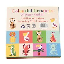 dotcomgiftshop PACK OF 20 COLOURFUL CREATURES COCKTAIL NAPKINS
