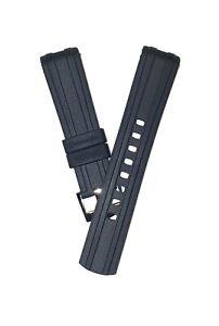 20mm Rubber Strap for Omega Seamaster 300m Black