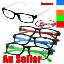 Quality Ladies Mens Wayfarer Frame Magnifying Reading Glasses Nerd Spectacle