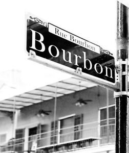 Bourbon Street Sign Whiskey Drinker NOLA Indoor/Outdoor Double Sided