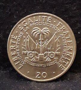 1975 Haiti 20 centimes, Jean-Claude Duvalier, FAO issue, UNC, KM-100 (HA2)  /N59
