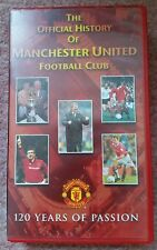 Man Manchester United official VHS Video Official History Of - 120 Years Passion