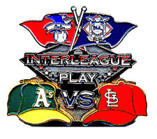 2007 MLB Interleague Play Pewter Pin - Athletics vs Cardinals