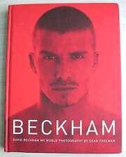 Beckham My World Hardback book Photography Football photos David Dean Freeman