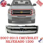 Front Chrome Grille Shell Insert For 2007-13 Chevrolet Silverado 1500