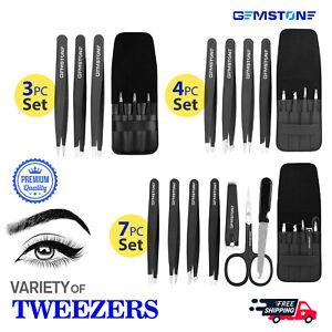 Eyebrow Tweezers with Travel Case Daily Beauty Hair Removal  3pcs 4pcs 7pcs Set