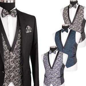 Herren Weste Hochzeitsweste Anzug Party Elegant in Schwarz Dunkel Blau Grün NEU