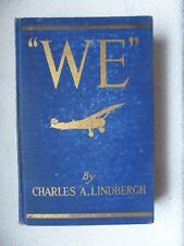 WE by CHARLES LINDBERGH 1927, 8th imp. Spirit of St Louis. HC, good condition
