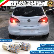 COPPIA LAMPADE PY21W BAU15S CANBUS 35 LED OPEL CORSA E FRECCE POSTERIORI