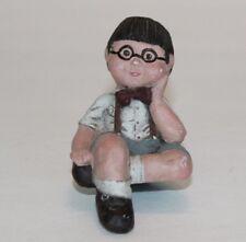 Sarah's Attic Little Boy In Glasses Granny's Favorites Figurine Free Shipping!