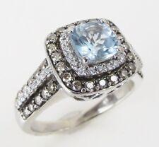 Le Vian Aquamarine Ring 3/4 ct tw Diamonds 14K Vanilla Gold