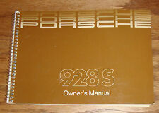 Original 1985 - 1986 Porsche 928 S 928S Owners Operators Manual 85 86