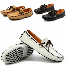 Mens Leather Moccasins Driving Slip On Loafers Casual Flat Shoes Size UK 6-9