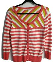 Review Women's Long Sleeve Striped Cardigan Size 14