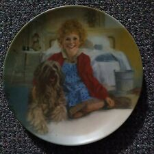 Edwin M Knowles Annie and Sandy collector plate First Issue Little Orphan Annie