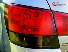 2010 to 2014 Subaru Legacy Sedan Smoked Tail Light Tint Smoke Film Overlays Set