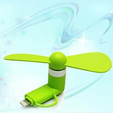 2in1 Candy color Portable Travel Mini USB Fan For iPhone Android Phone Green MT