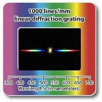 Lot of 10 Diffraction Grating Slide Linear 500+1000Lines/mm Holographic Spectrum