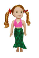 Mermaid Outfit for Wellie Wisher Dolls