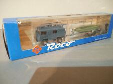 Roco 1713 Pinzgauer 4x4 Safari Kirmes Boot Zille Motorboot & Trailer Anhänger